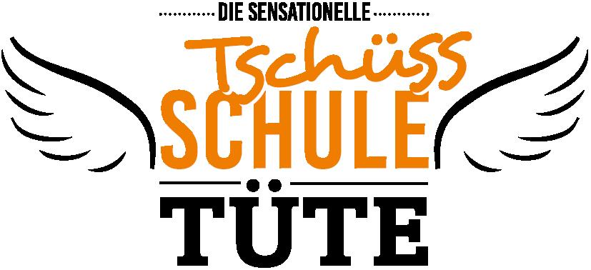 Tschüss-Schule-Tüte Logo